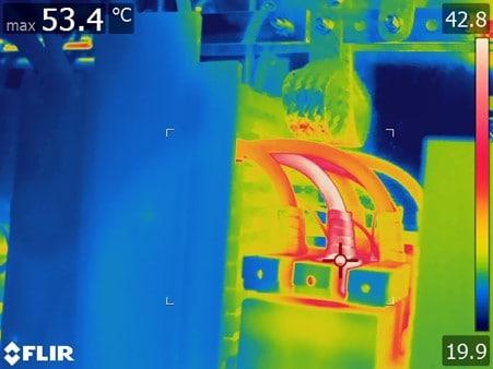 rms flir electrical wires thermal image 53C