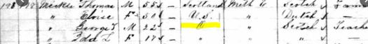 1881 Canadian Census example