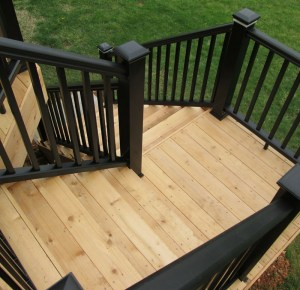 wood decking black trex railing millhurst millstone edison piscataway morris nj rms home remodeling