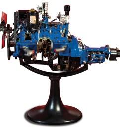 ford 24 stud flathead v 8 cutaway display engine 1946 48 [ 1920 x 1440 Pixel ]