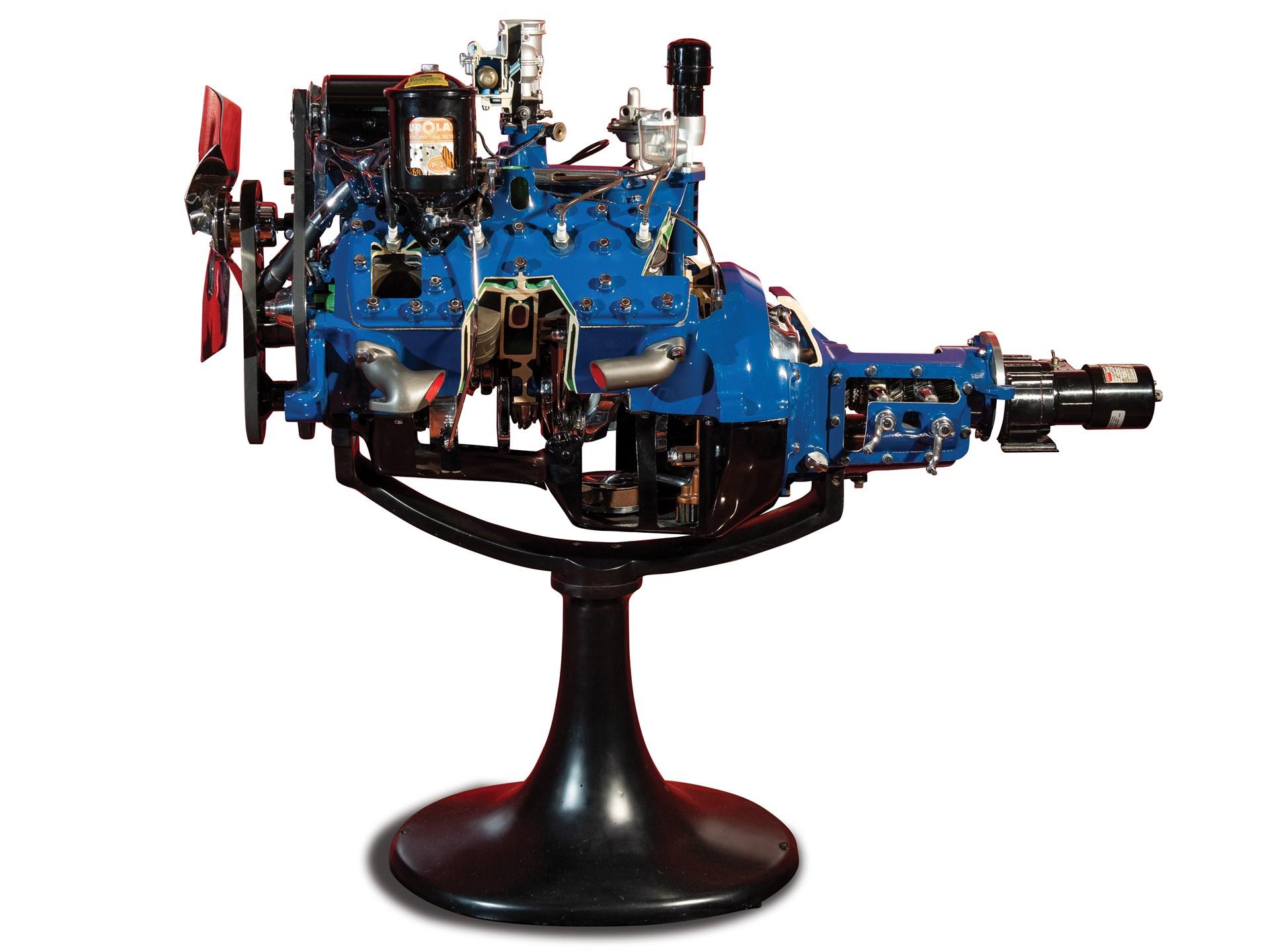 hight resolution of ford 24 stud flathead v 8 cutaway display engine 1946 48