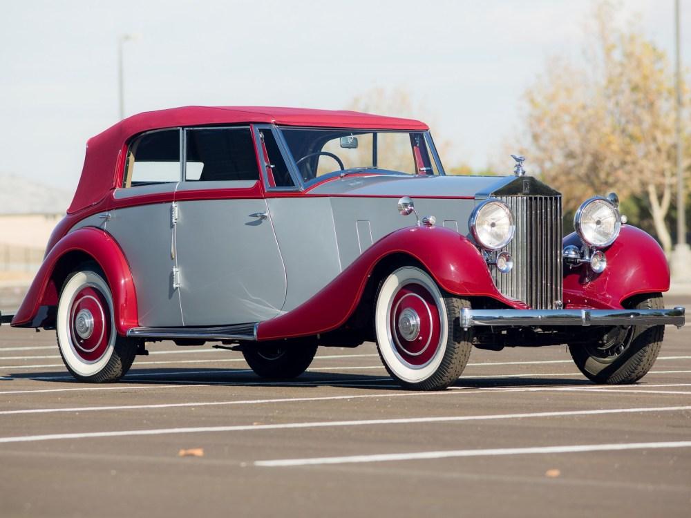 medium resolution of 1937 rolls royce 25 30 wingham four door cabriolet by martin walter