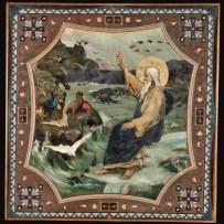 10. В.А. Котарбинский. Пятый день творения. Сотворение птиц, рыб и пресмыкающихся. После реставрации.