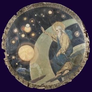 7. В.А. Котарбинский. Четвёртый день творения. Сотворение небесных светил. До реставрации.
