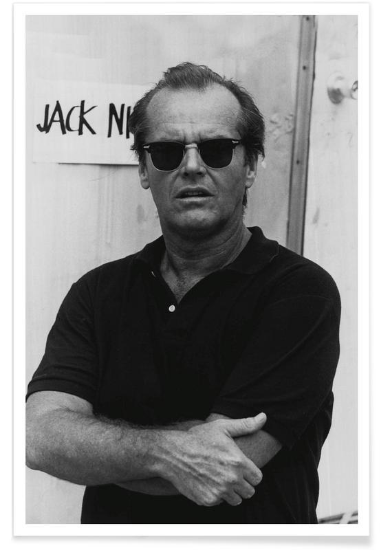 Jack Nicholson in Sunglasses Photograph Poster  JUNIQE