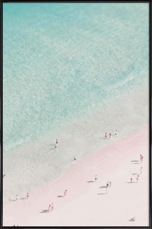 Beach Love Framed Poster JUNIQE UK