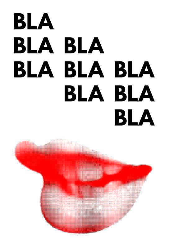 Bla Bla Bla Aluminium Print  JUNIQE