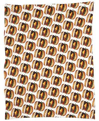 cheeseburger pattern gift wrap