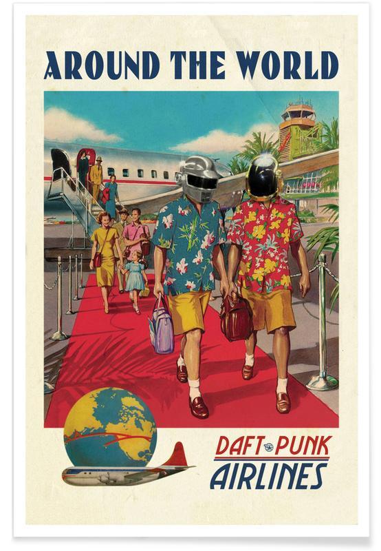 Around The World as Premium Poster by Ads Libitum  JUNIQE UK