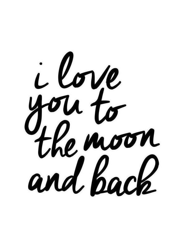 I Love You to the Moon and Back als Canvas print  JUNIQE