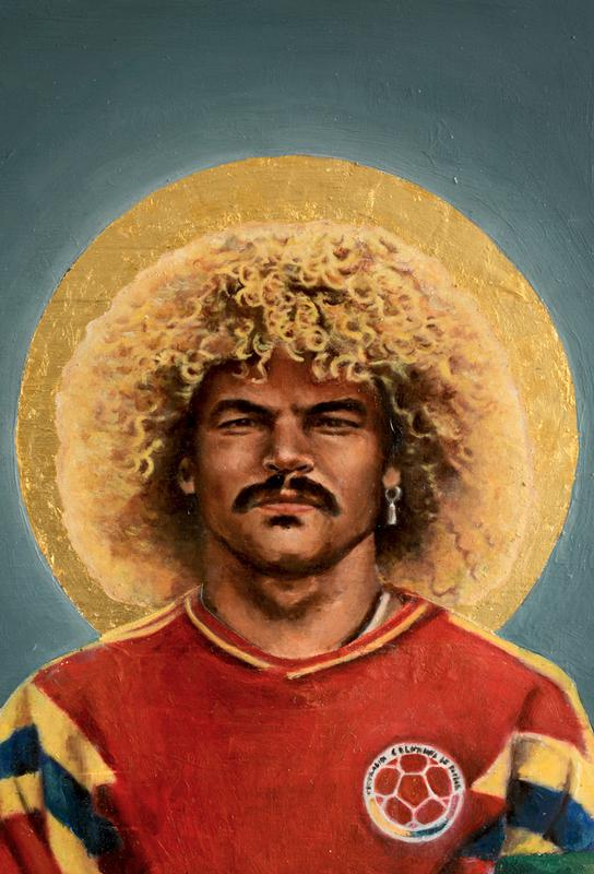 Football Icon Carlos Valderrama as Acrylic Glass Print