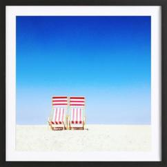Wooden Frame Beach Chairs Adjustable Floor Chair As Poster In By Sattrup Host Juniqe