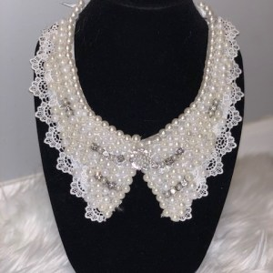 Custom Pearl Bib Collar Necklace