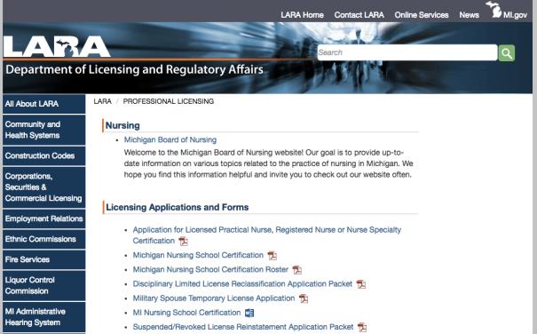 """RN License Verification MI"""