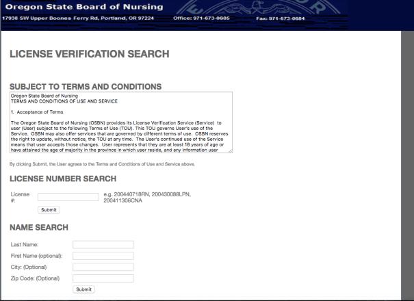 """RN License Verification Oregon"""