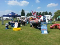 Our stall at the Olney Raft race