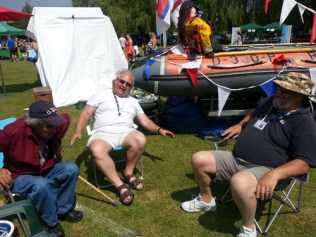 Pancho, Steve and Rod at the Olney raft race