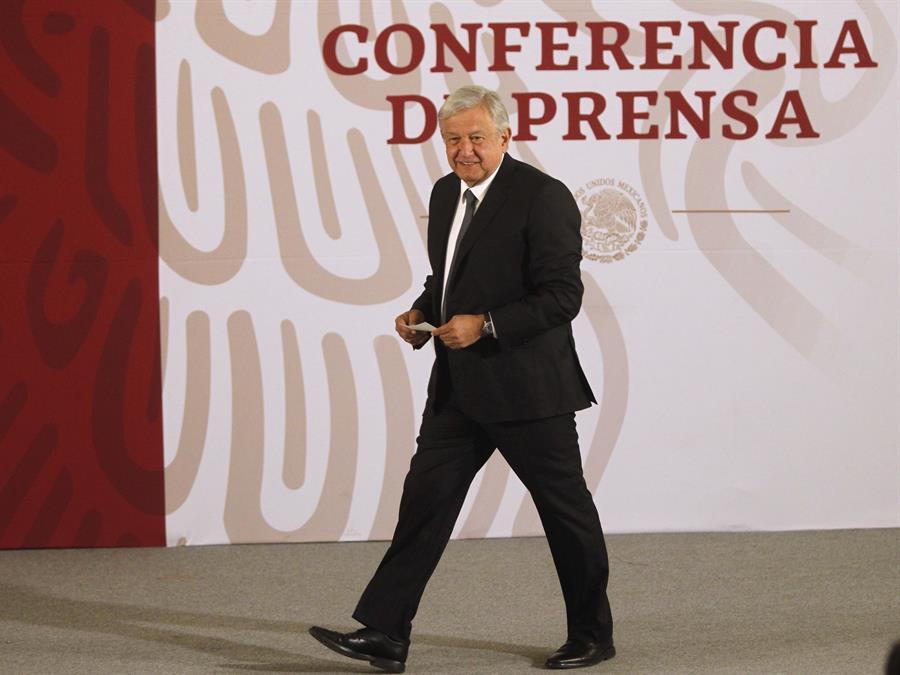 El presidente de México, Andrés Manuel López Obrador, durante su conferencia de prensa matutina en Ciudad de México (México).EFE/Sáshenka Gutiérrez/Archivo