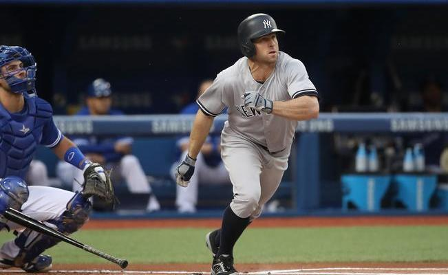 Brett Gardner, jardinero de los Yankees. (Foto: TOM SZCZERBOWSKI/AFP)