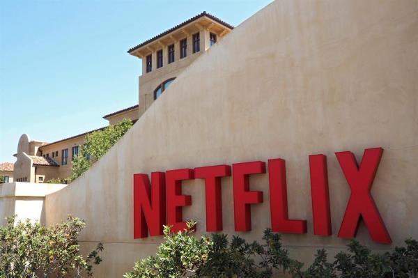 Logotipo de la plataforma líder de televisión por internet a nivel mundial, Netflix, en su sede de Los Gatos, California (Estados Unidos). EFE/JOHN G. MABANGLO/Archivo