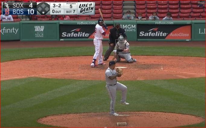 Yermin Mercedes lanzó una entrada en Boston. (Foto: Fuente Externa)