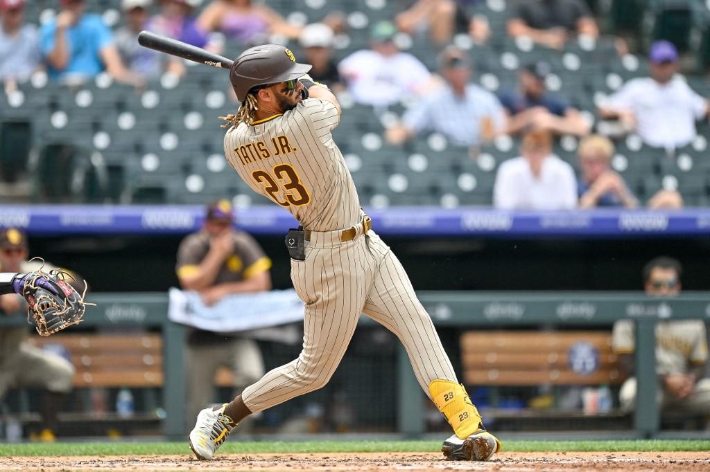 Fernando Tatis Jr., #23 de los San Diego Padres.  (Foto: Dustin Bradford/Getty Images/AFP)