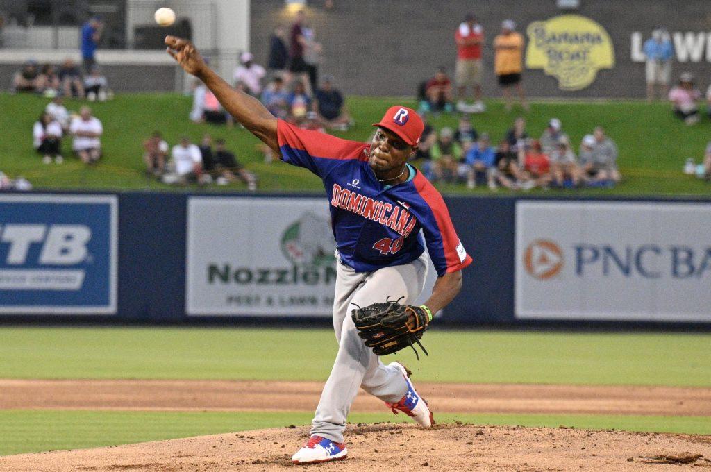 Radhames Liz, lanzador derecho abridor de la República Dominicana.