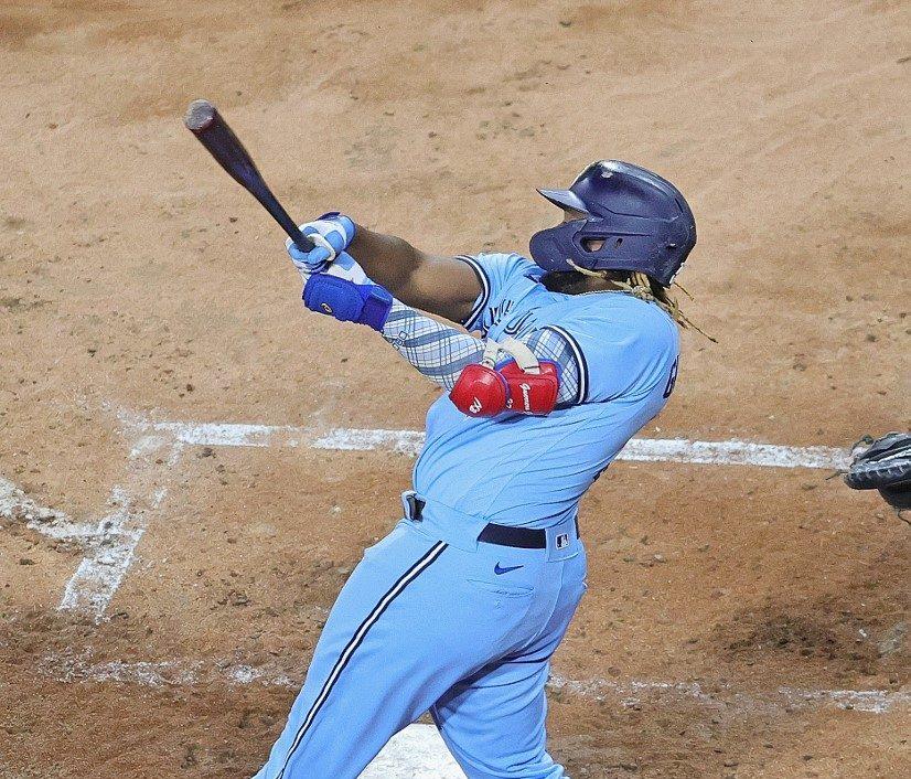 Vladimir Guerrero Jr., #27 de los Toronto Blue Jays.   (Foto: Jonathan Daniel/Getty Images/AFP)