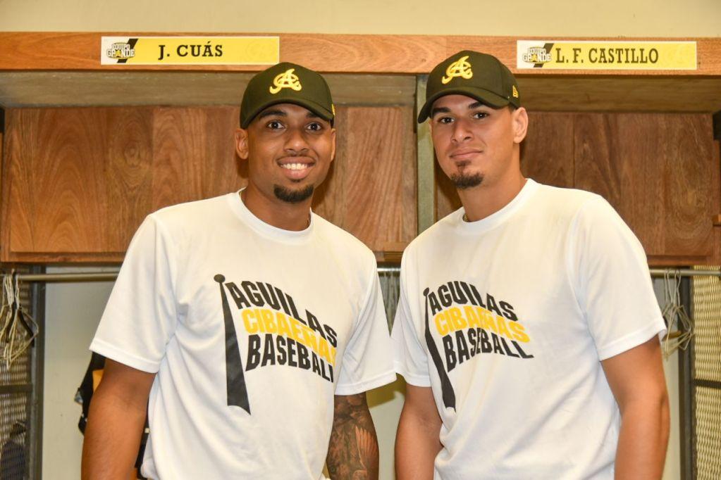 Los lanzadores José Cuas y Luis Felipe Castillo. (Foto: Prensa Águilas Cibaeñas)