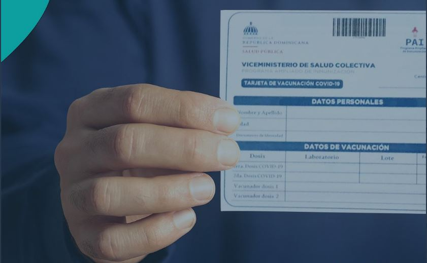 tarjeta de vacunación.