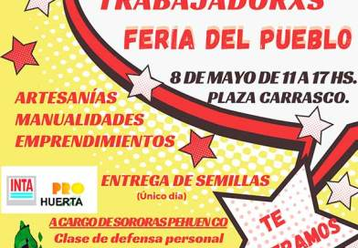 Sábado 8/5: Entrega de semillas y «Feria del Pueblo» en Plaza Carrasco.