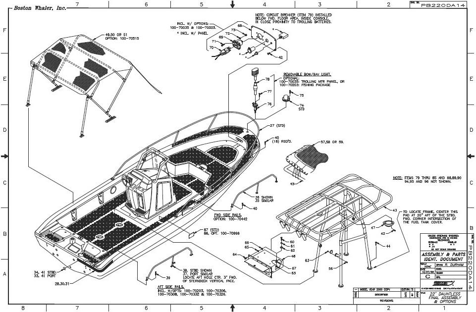 Boston Whaler® Dauntless-22, 2000: Bimini-Top T-Top image