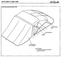 1998-2000 Sea Ray® 190 Cuddy Cabin Factory Original (OEM