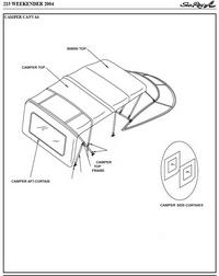 Sea Ray® 215 Weekender, 2004-2005, Factory Original (OEM
