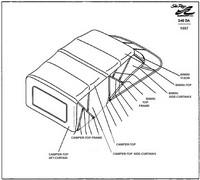 Sea Ray® 240 Sundancer Camper-Top-Complete-with-Frame-OEM
