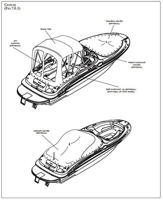 Bimini Visor (Factory OEM) for Sea Ray® 240 Sundeck (2007