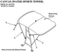 2009-2011 Sea Ray® 280 Sundeck Tower Factory Original (OEM