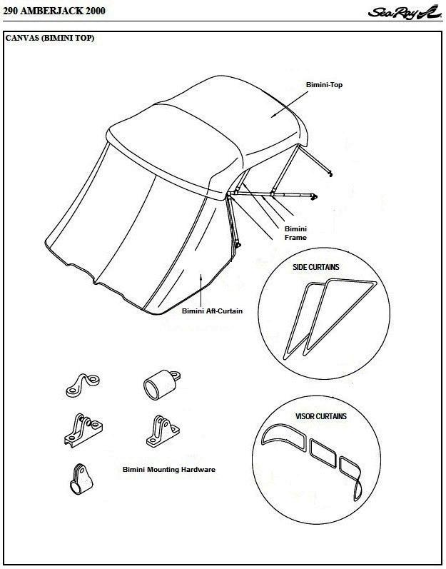 Sea Ray® 290-Amberjack-Arch, 2000: parts-manual-canvas