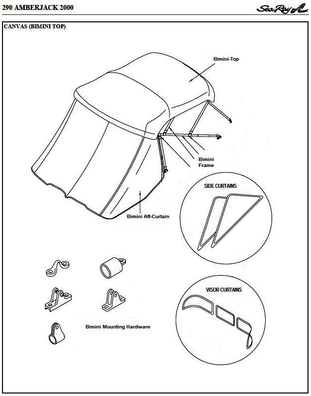 Bimini Aft-Curtain (Factory OEM) for Sea Ray® 290