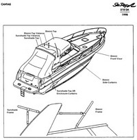 1998 Sea Ray® 310 Sundancer Factory Original (OEM) Canvas