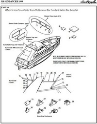 1999-2002 Sea Ray® 310 Sundancer Factory Original (OEM