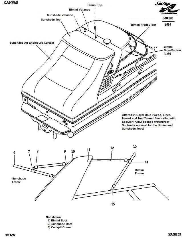 Sea Ray® 330-Express-Cruiser, 1997: parts-manual-canvas