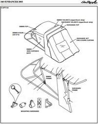 Bimini Visor (Factory OEM) for Sea Ray® 340 Sundancer DA