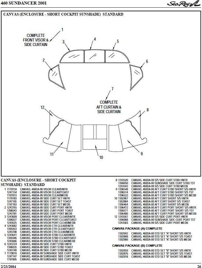 Bimini Side-Curtains Strata (Factory OEM) for Sea Ray® 460