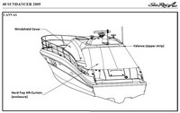 Sea Ray® 48 Sundancer Windshield-Cover-OEM-B™ Factory