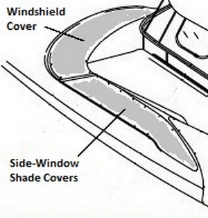 Windshield Cover (Factory OEM) for Sea Ray® 460 Sundancer