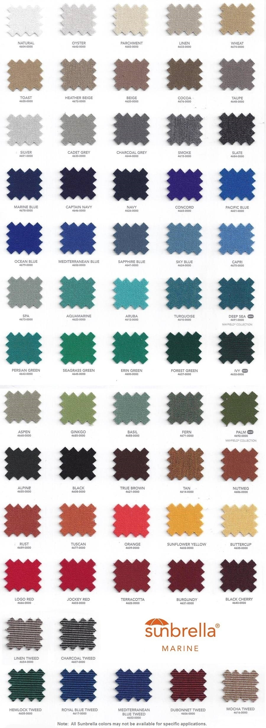 medium resolution of  sunbrella marine top fabric colors boat