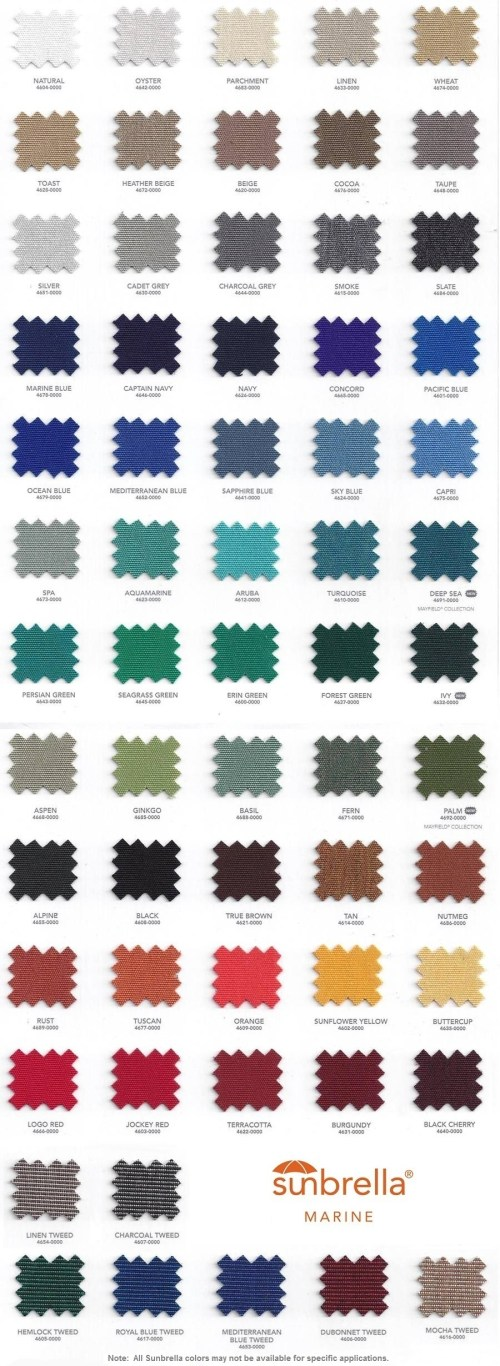 small resolution of  marine top fabric colors boat