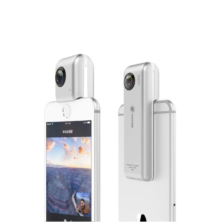 Insta360 Nano 360 Degree Camera VR 3D Panoramic Point and Shoot Digital Video Cameras 3K HD Dual Wide Angle Fisheye Lens for iPhone 7, 7 Plus and All iPhone