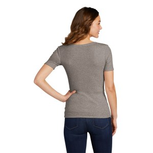 District® Women's V.I.T.™ Rib Scoop Neck Tee – DT6020